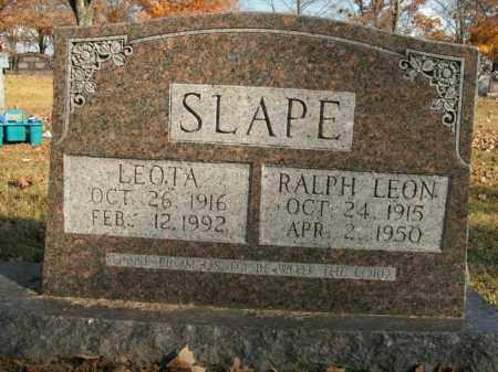 SLAPE, RALPH LEON - Boone County, Arkansas | RALPH LEON SLAPE - Arkansas Gravestone Photos