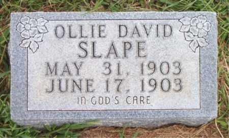SLAPE, OLLIE DAVID - Boone County, Arkansas | OLLIE DAVID SLAPE - Arkansas Gravestone Photos