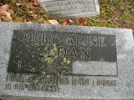 SLOAN, RUBY ALINE - Boone County, Arkansas | RUBY ALINE SLOAN - Arkansas Gravestone Photos