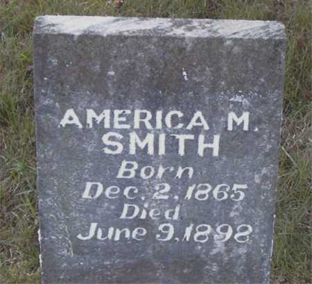 SMITH, AMERICA M. - Boone County, Arkansas | AMERICA M. SMITH - Arkansas Gravestone Photos