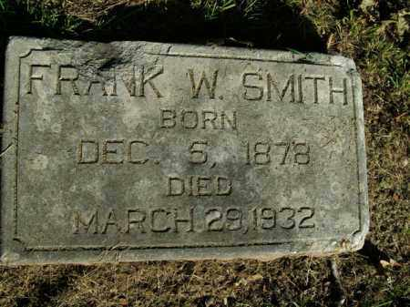 SMITH, FRANK W. - Boone County, Arkansas | FRANK W. SMITH - Arkansas Gravestone Photos
