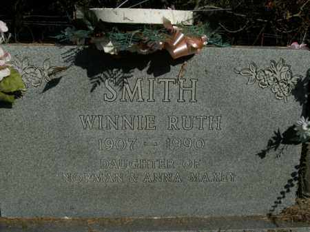 MAXEY SMITH, WINNIE RUTH - Boone County, Arkansas | WINNIE RUTH MAXEY SMITH - Arkansas Gravestone Photos