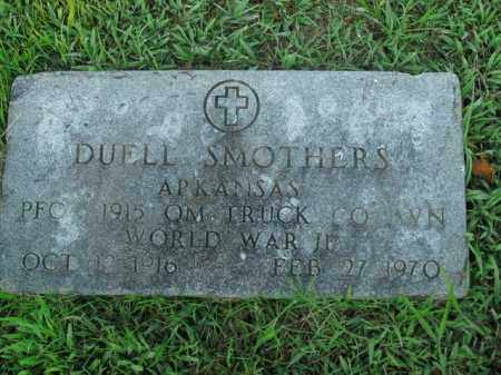 SMOTHERS  (VETERAN WWII), DUELL - Boone County, Arkansas | DUELL SMOTHERS  (VETERAN WWII) - Arkansas Gravestone Photos