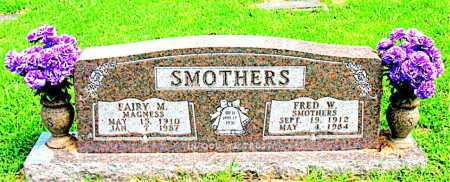 SMOTHERS, FRED W - Boone County, Arkansas | FRED W SMOTHERS - Arkansas Gravestone Photos