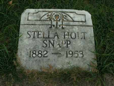HOLT SNAPP, STELLA - Boone County, Arkansas | STELLA HOLT SNAPP - Arkansas Gravestone Photos