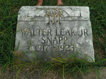 SNAPP, WALTER LEAK, JR - Boone County, Arkansas | WALTER LEAK, JR SNAPP - Arkansas Gravestone Photos