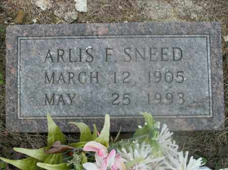 SNEED, ARLIS F. - Boone County, Arkansas | ARLIS F. SNEED - Arkansas Gravestone Photos
