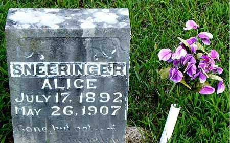 SNEERINGER, ALICE - Boone County, Arkansas | ALICE SNEERINGER - Arkansas Gravestone Photos