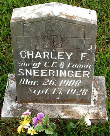 SNEERINGER, CHARLEY  F. - Boone County, Arkansas | CHARLEY  F. SNEERINGER - Arkansas Gravestone Photos