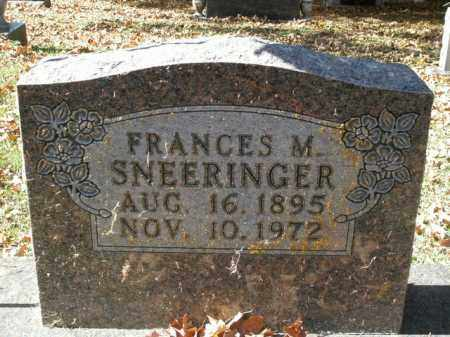 SNEERINGER, FRANCES M. - Boone County, Arkansas | FRANCES M. SNEERINGER - Arkansas Gravestone Photos