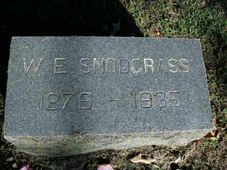 SNODGRASS, W.E. - Boone County, Arkansas | W.E. SNODGRASS - Arkansas Gravestone Photos