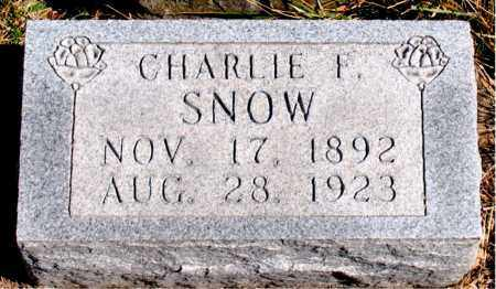 SNOW, CHARLIE  F. - Boone County, Arkansas | CHARLIE  F. SNOW - Arkansas Gravestone Photos