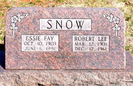 SNOW, ROBERT LEE - Boone County, Arkansas | ROBERT LEE SNOW - Arkansas Gravestone Photos