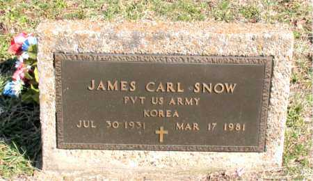 SNOW  (VETERAN KOR), JAMES CARL - Boone County, Arkansas | JAMES CARL SNOW  (VETERAN KOR) - Arkansas Gravestone Photos