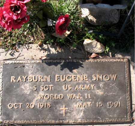 SNOW  (VETERAN WWII), RAYBURN EUGENE - Boone County, Arkansas | RAYBURN EUGENE SNOW  (VETERAN WWII) - Arkansas Gravestone Photos