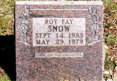 SNOW, ROY FAY - Boone County, Arkansas | ROY FAY SNOW - Arkansas Gravestone Photos