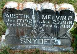 SNYDER, AUSTIN F - Boone County, Arkansas | AUSTIN F SNYDER - Arkansas Gravestone Photos