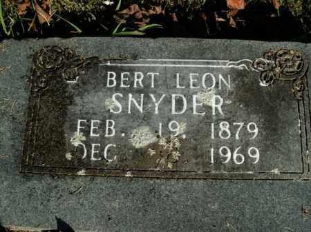 SNYDER, BERT LEON - Boone County, Arkansas | BERT LEON SNYDER - Arkansas Gravestone Photos