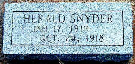 SNYDER, HERALD - Boone County, Arkansas | HERALD SNYDER - Arkansas Gravestone Photos