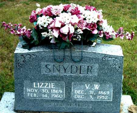 SNYDER, V.W. - Boone County, Arkansas | V.W. SNYDER - Arkansas Gravestone Photos