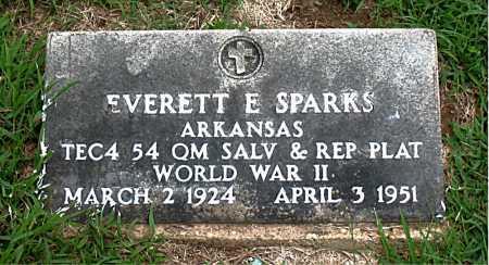 SPARKS  (VETERAN WWII), EVERETT E - Boone County, Arkansas | EVERETT E SPARKS  (VETERAN WWII) - Arkansas Gravestone Photos