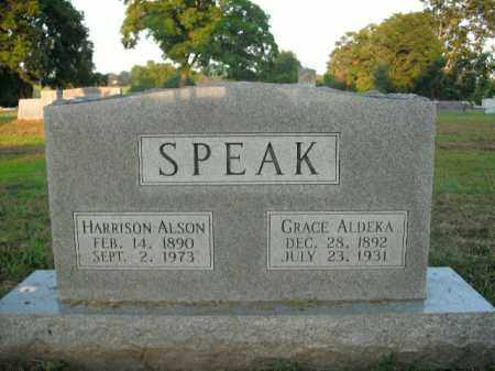 SPEAK, HARRISON ALSON - Boone County, Arkansas | HARRISON ALSON SPEAK - Arkansas Gravestone Photos
