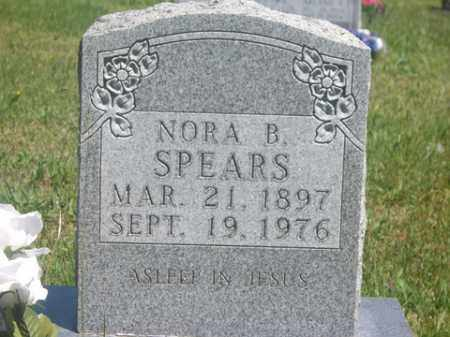 SPEARS, NORA B. - Boone County, Arkansas   NORA B. SPEARS - Arkansas Gravestone Photos