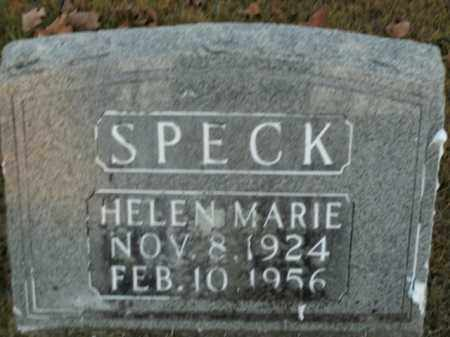 SPECK, HELEN MARIE - Boone County, Arkansas | HELEN MARIE SPECK - Arkansas Gravestone Photos
