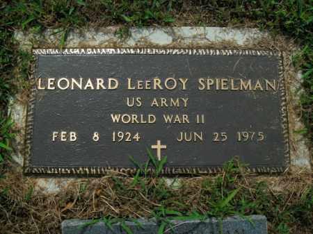 SPIELMAN  (VETERAN WWII), LEONARD LEEROY - Boone County, Arkansas | LEONARD LEEROY SPIELMAN  (VETERAN WWII) - Arkansas Gravestone Photos