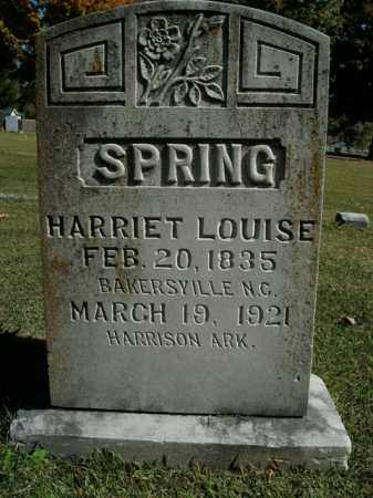 SPRING, HARRIET LOUISE - Boone County, Arkansas | HARRIET LOUISE SPRING - Arkansas Gravestone Photos