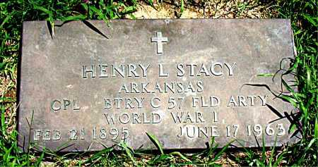 STACY  (VETERAN WWI), HENRY  L - Boone County, Arkansas | HENRY  L STACY  (VETERAN WWI) - Arkansas Gravestone Photos
