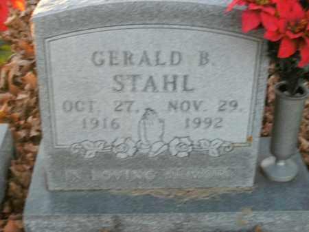 STAHL, GERALD B. - Boone County, Arkansas | GERALD B. STAHL - Arkansas Gravestone Photos