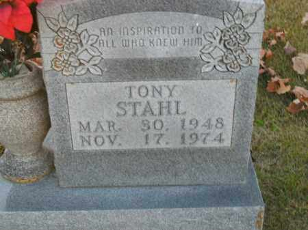STAHL, TONY - Boone County, Arkansas | TONY STAHL - Arkansas Gravestone Photos