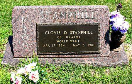 STANPHILL  (VETERAN WWII), CLOVIS D - Boone County, Arkansas | CLOVIS D STANPHILL  (VETERAN WWII) - Arkansas Gravestone Photos