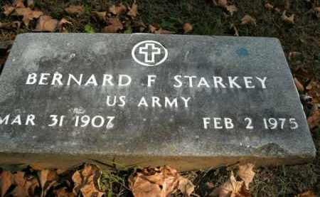 STARKEY  (VETERAN ), BERNARD F - Boone County, Arkansas | BERNARD F STARKEY  (VETERAN ) - Arkansas Gravestone Photos