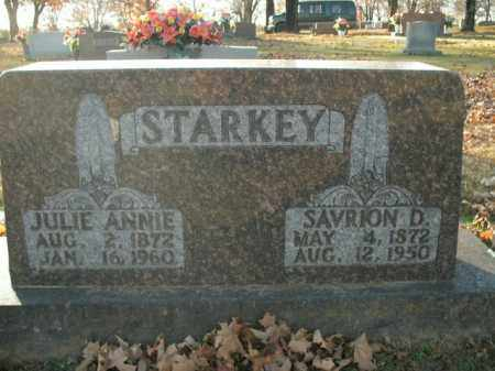STARKEY, SAVRION D. - Boone County, Arkansas | SAVRION D. STARKEY - Arkansas Gravestone Photos