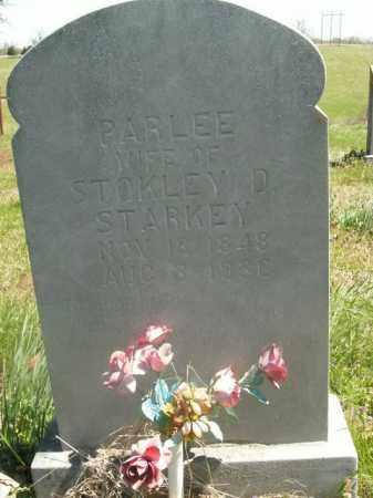 STARKEY, PARLEE - Boone County, Arkansas | PARLEE STARKEY - Arkansas Gravestone Photos