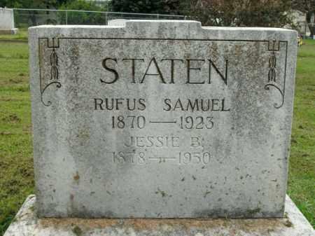 STATEN, JESSIE B. - Boone County, Arkansas | JESSIE B. STATEN - Arkansas Gravestone Photos