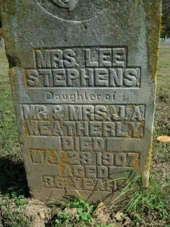 WEATHERLY STEPHENS, LEE - Boone County, Arkansas | LEE WEATHERLY STEPHENS - Arkansas Gravestone Photos