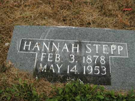 STEPP, HANNAH - Boone County, Arkansas | HANNAH STEPP - Arkansas Gravestone Photos