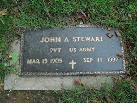 STEWART  (VETERAN), JOHN A. - Boone County, Arkansas | JOHN A. STEWART  (VETERAN) - Arkansas Gravestone Photos