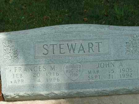 STEWART, FRANCES M. - Boone County, Arkansas | FRANCES M. STEWART - Arkansas Gravestone Photos