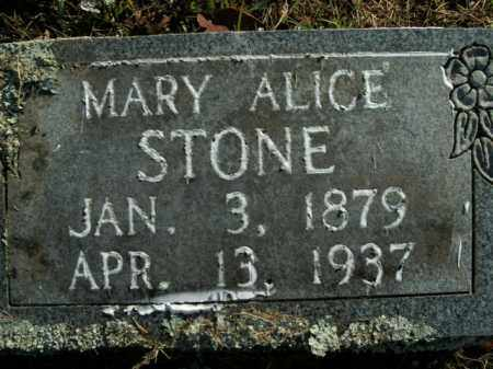 STONE, MARY ALICE - Boone County, Arkansas | MARY ALICE STONE - Arkansas Gravestone Photos