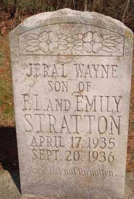 STRATTON, JERAL WAYNE - Boone County, Arkansas | JERAL WAYNE STRATTON - Arkansas Gravestone Photos