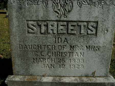 CHRISTIAN STREETS, IDA - Boone County, Arkansas | IDA CHRISTIAN STREETS - Arkansas Gravestone Photos