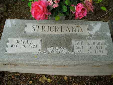 STRICKLAND, PAUL MCQUIRE - Boone County, Arkansas | PAUL MCQUIRE STRICKLAND - Arkansas Gravestone Photos
