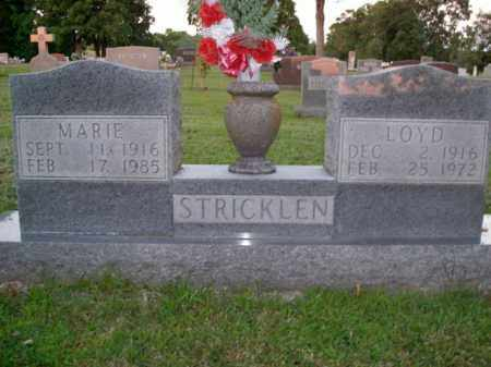 STRICKLEN, MARIE - Boone County, Arkansas | MARIE STRICKLEN - Arkansas Gravestone Photos