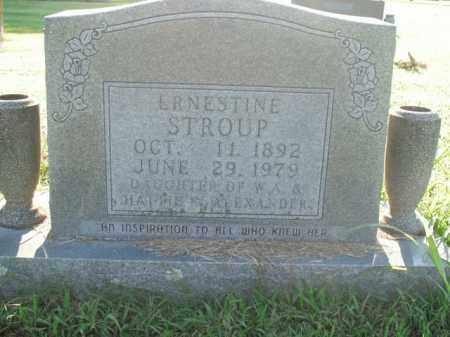 ALEXANDER STROUP, ERNESTINE - Boone County, Arkansas | ERNESTINE ALEXANDER STROUP - Arkansas Gravestone Photos