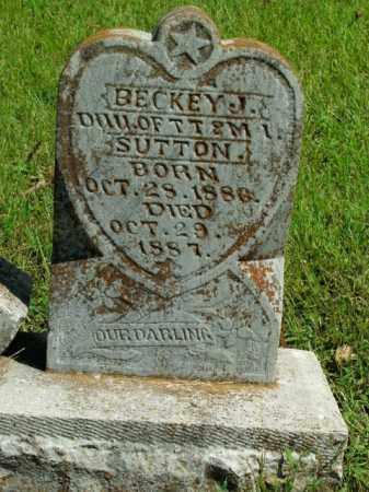 SUTTON, BECKEY J. - Boone County, Arkansas | BECKEY J. SUTTON - Arkansas Gravestone Photos