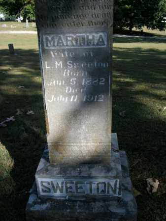 SWEETON, MARTHA - Boone County, Arkansas | MARTHA SWEETON - Arkansas Gravestone Photos